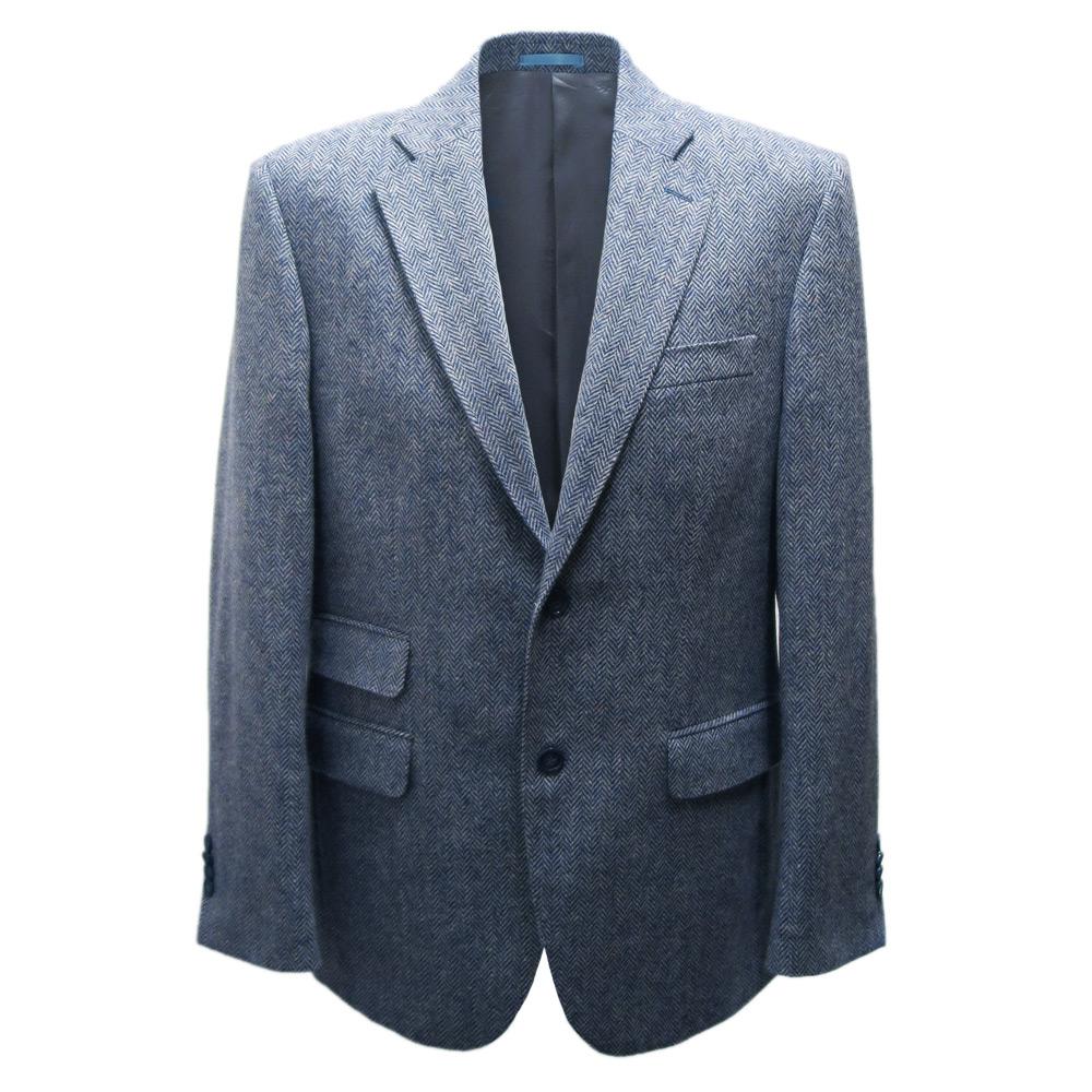 Herencolbert visgraat blauw mt 48 - 54