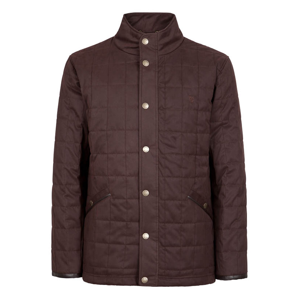 Heren quiltjas Beckett Chestnut