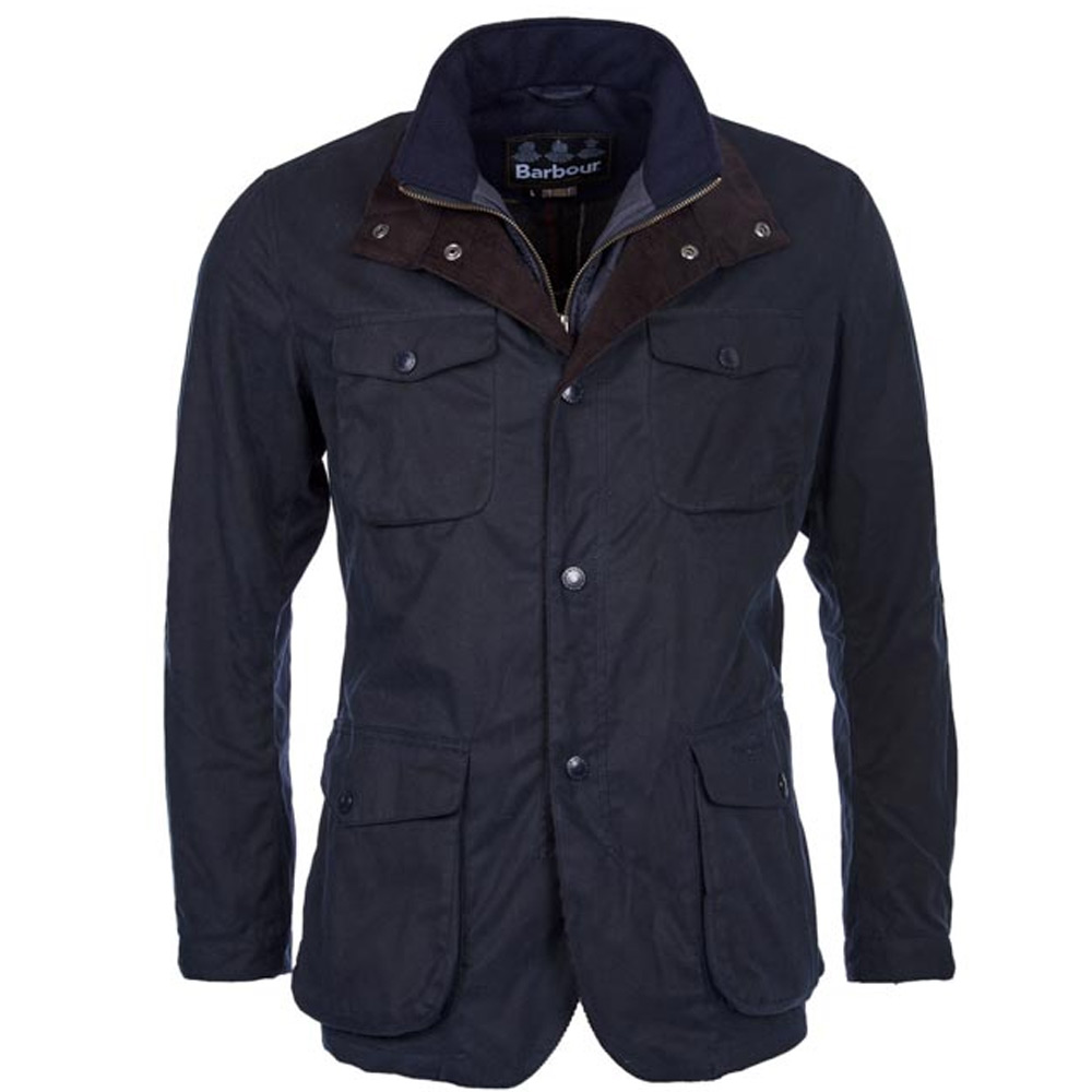Herenjas Ogston Wax Jacket Navy