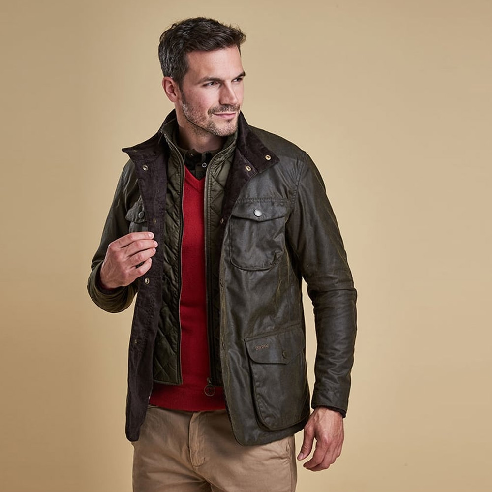 Herenjas Ogston Wax Jacket Olive