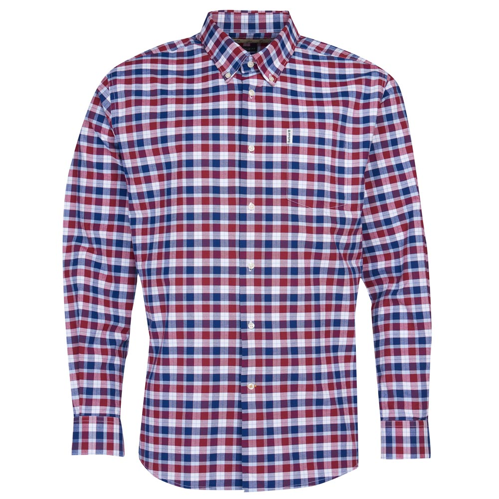 Herenshirt Country Check 15 regular fit Rich red