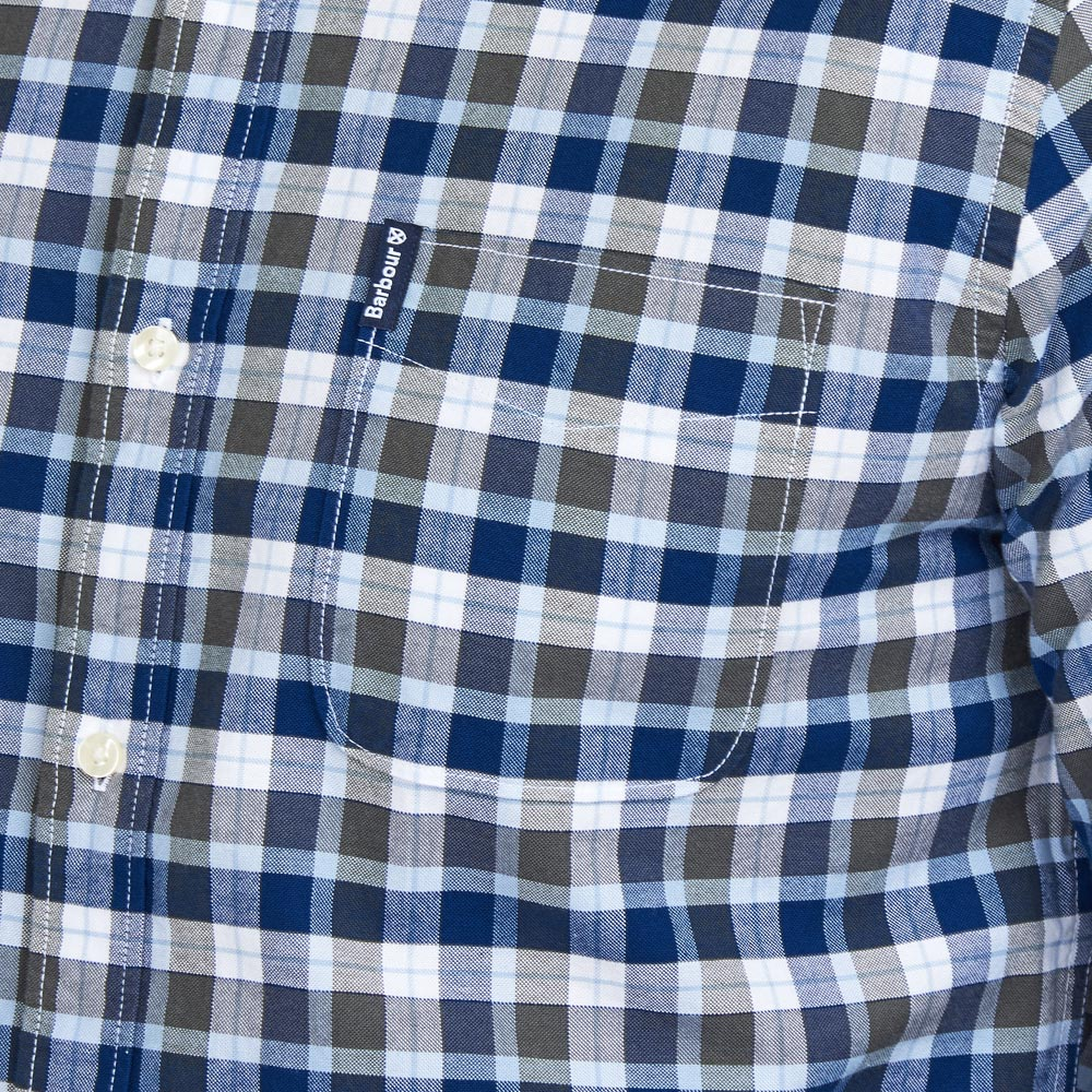 Herenshirt Country Check 15 tailored fit olive