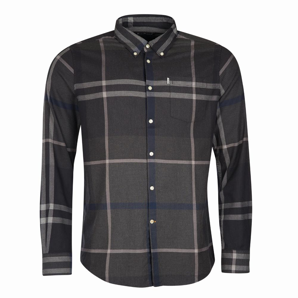 Herenshirt Dunoon tailored fit Graphite