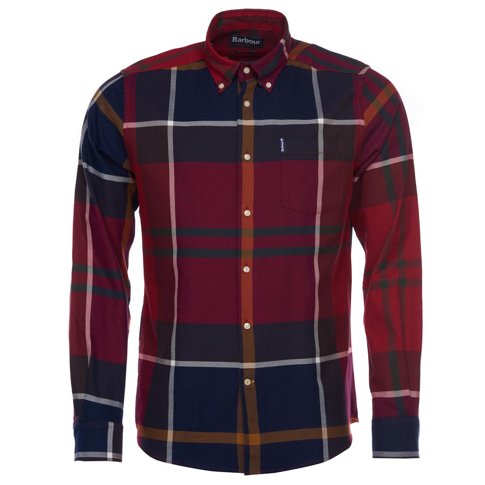 Herenshirt Dunoon tailored fit Red