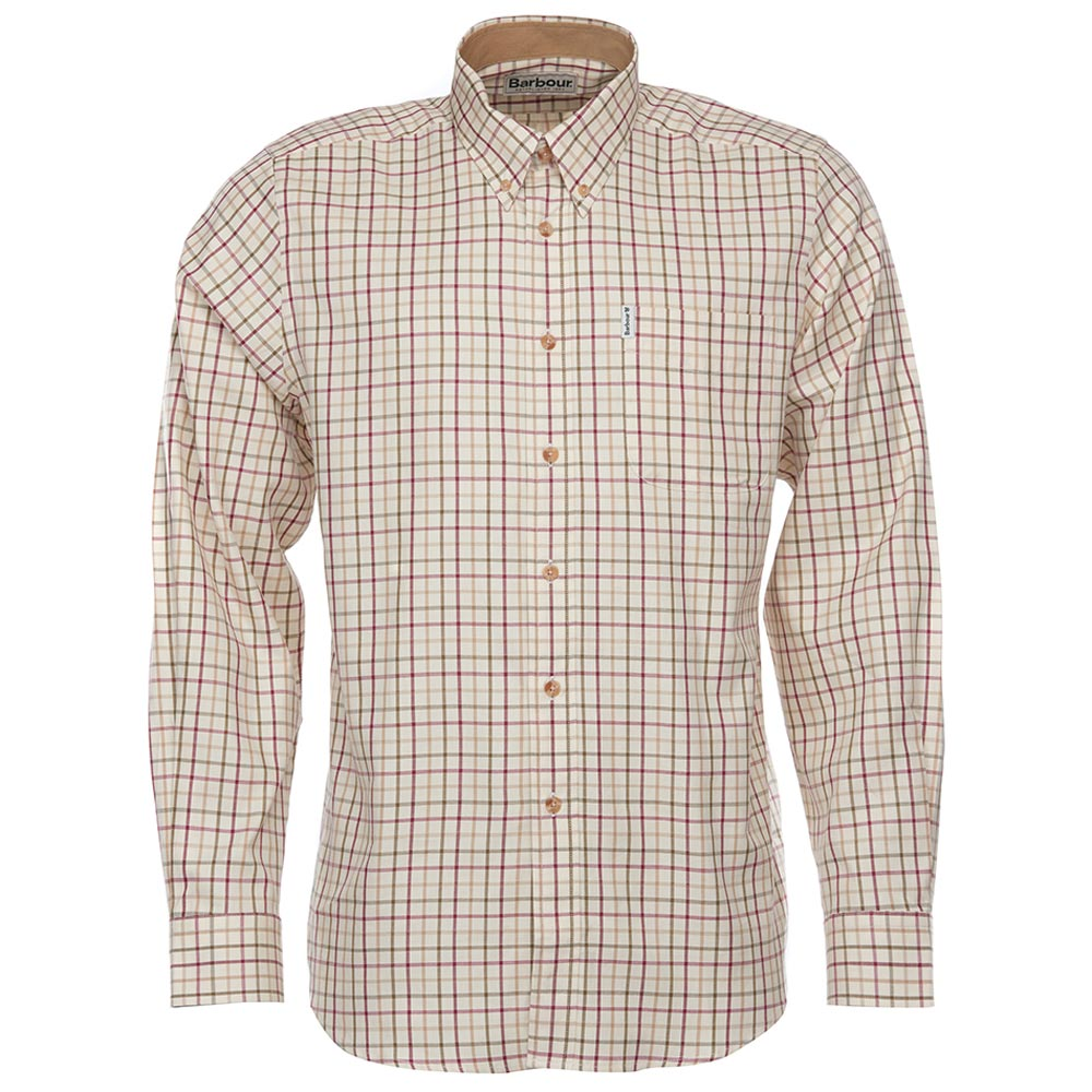 Herenshirt SP Tattersall Red/khaki