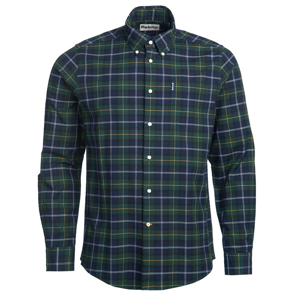 Herenshirt Tartan 6 tailored seaweed