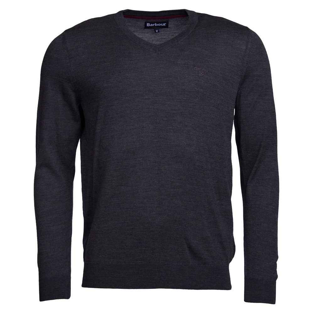 herentrui Merino V neck charcoal