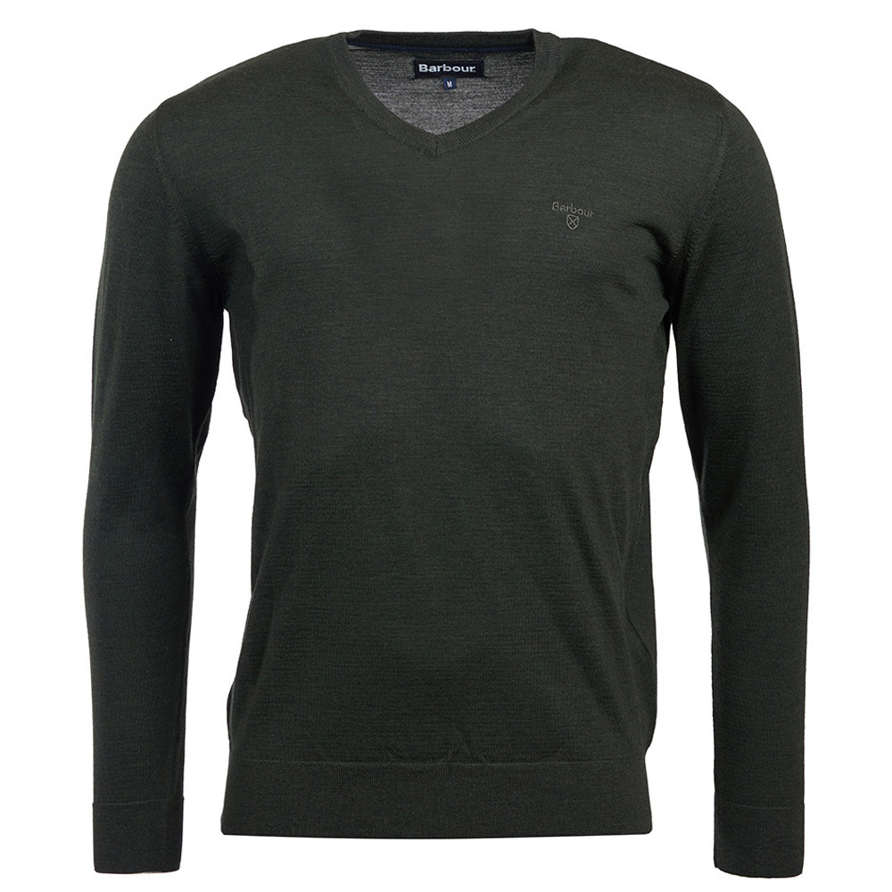 herentrui Merino V neck forest