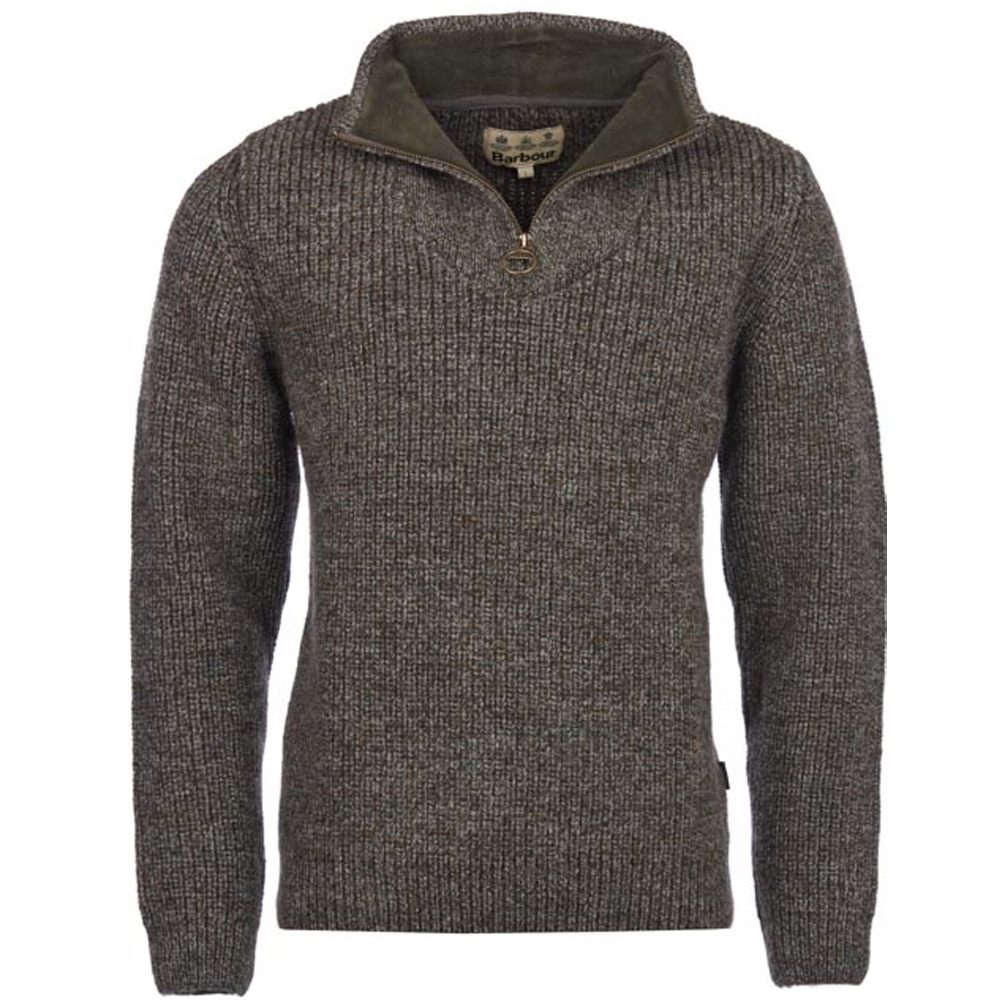 Herentrui New Tyne Half Zip Derby Tweed