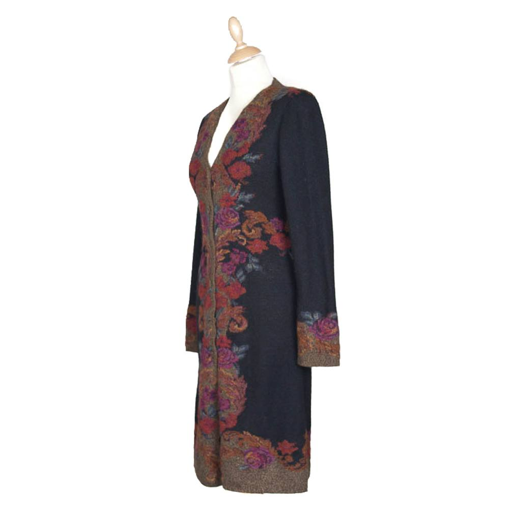 Il Roseto Coat - Black/Bronze (2805B)