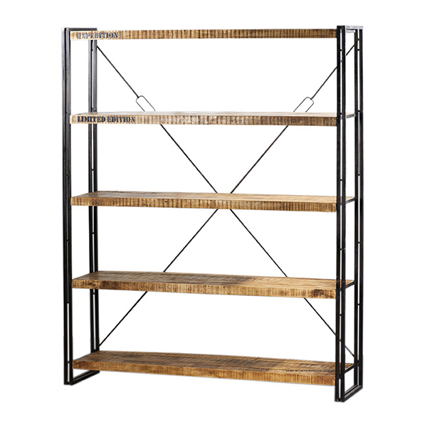 Iron boekenkast 200x160cm
