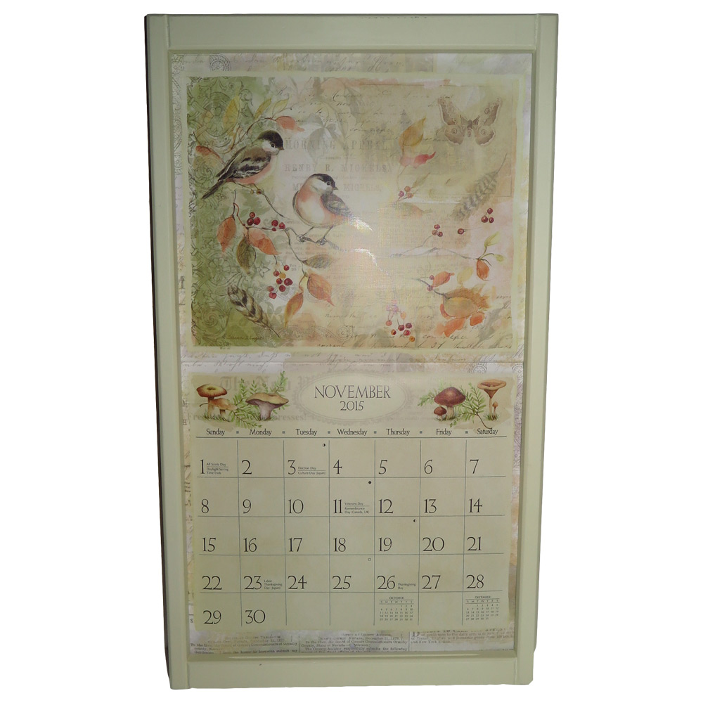 Kalenderlijst groot creme