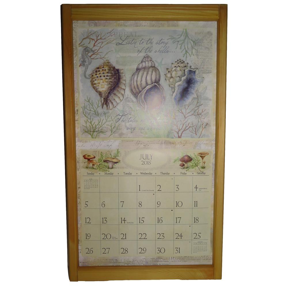 Kalenderlijst groot grenen