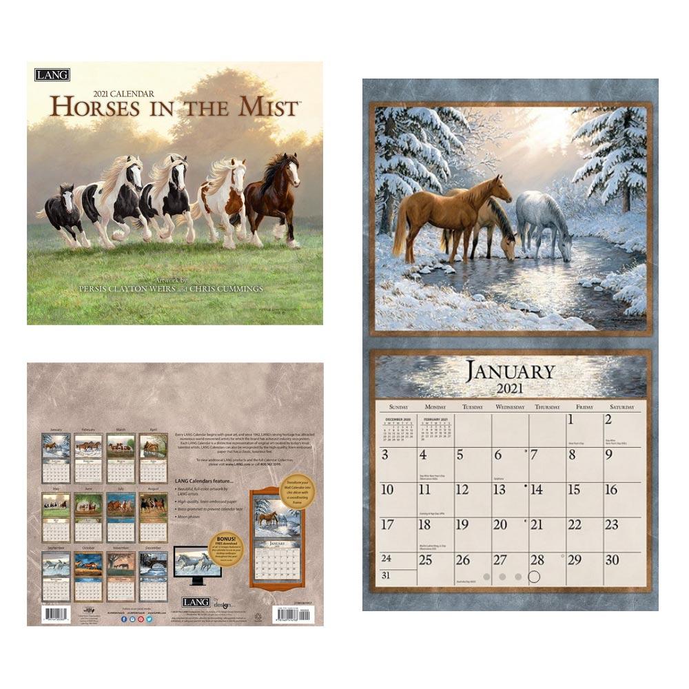 Kalender Horses In The Mist