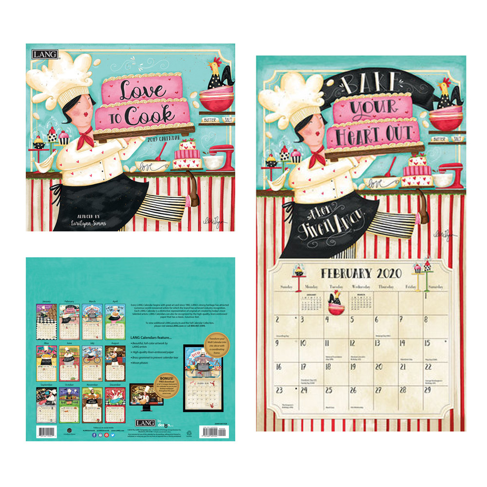 Kalender Love To Cook