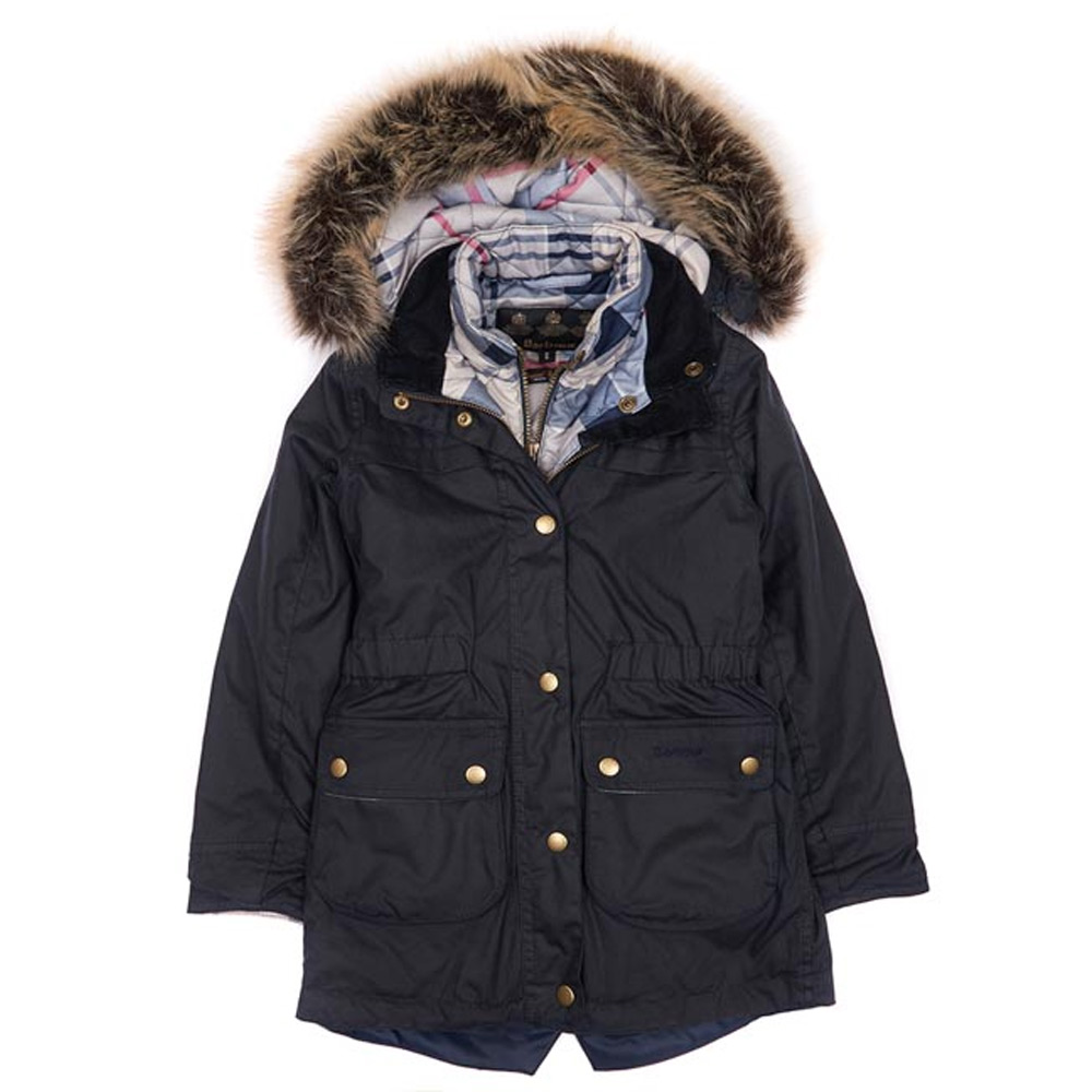 Kids Girls Dartford Wax Navy