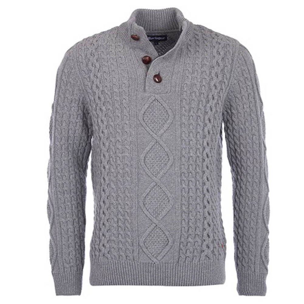 Kirktown Half Button Grey Marl