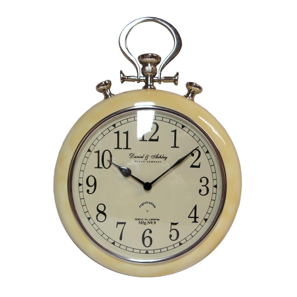 Klok horloge Creme