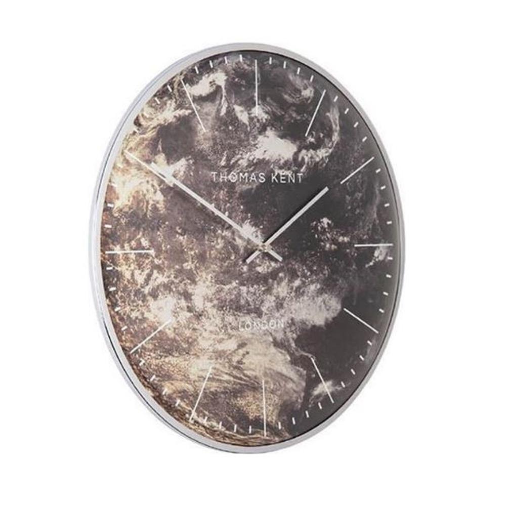 Klok Oyster m Aubergine/zilver