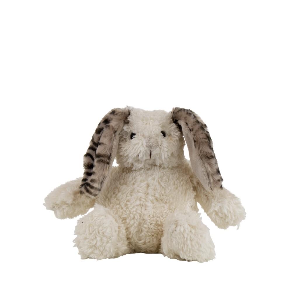 Knuffel konijn wit zebra klein