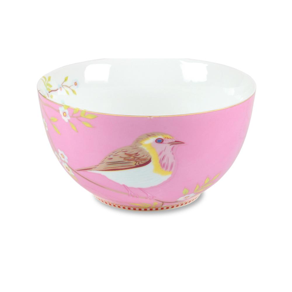 Kom 15 cm Vogel pink