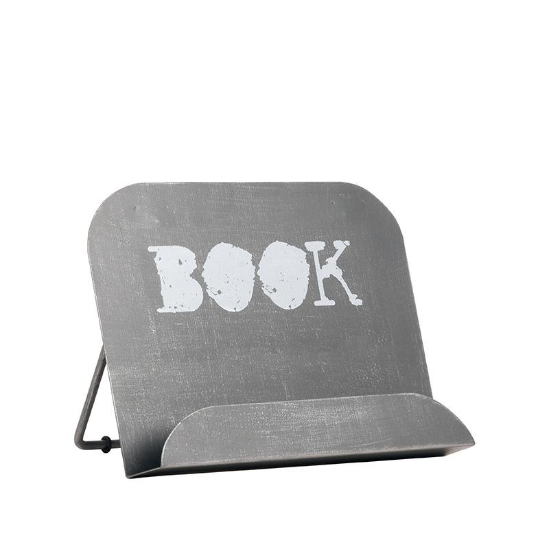 Kookboekstandaard - Antiek grijs - Metaal