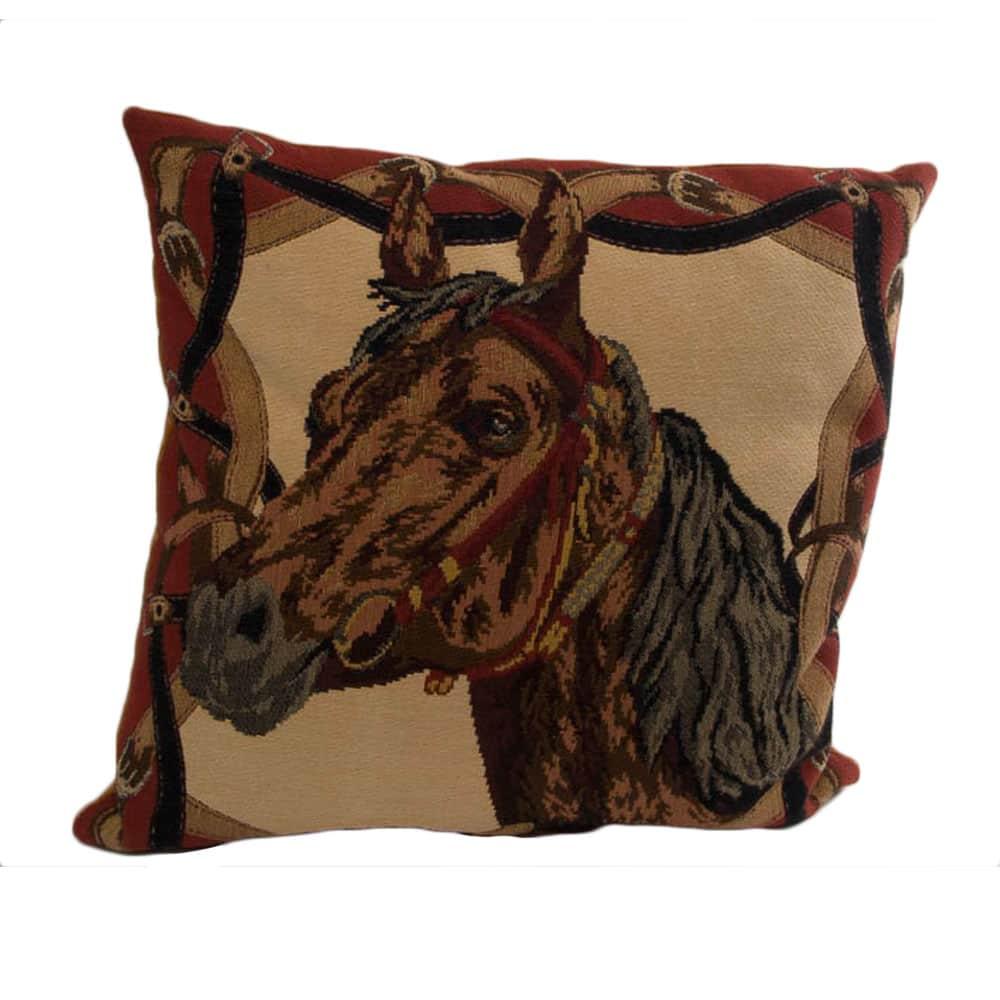 Kussen paardenhoofd bruin
