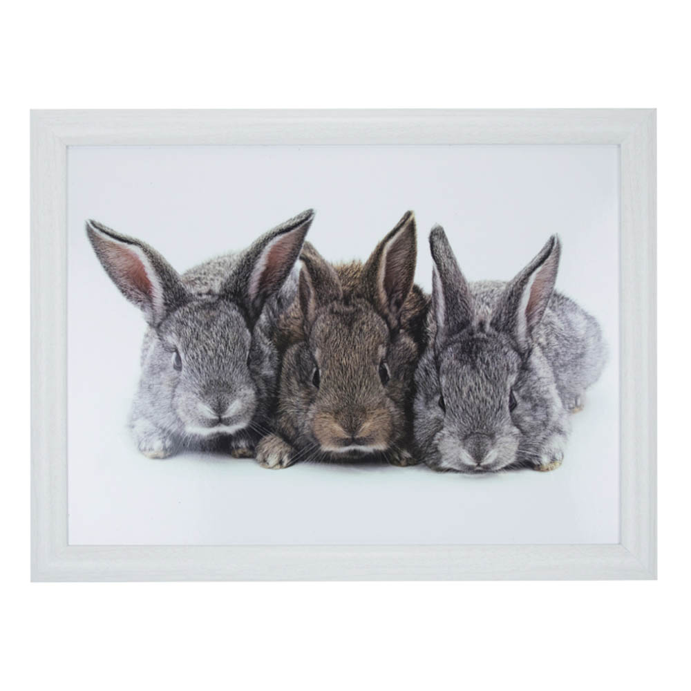 Laptray Drie konijnen