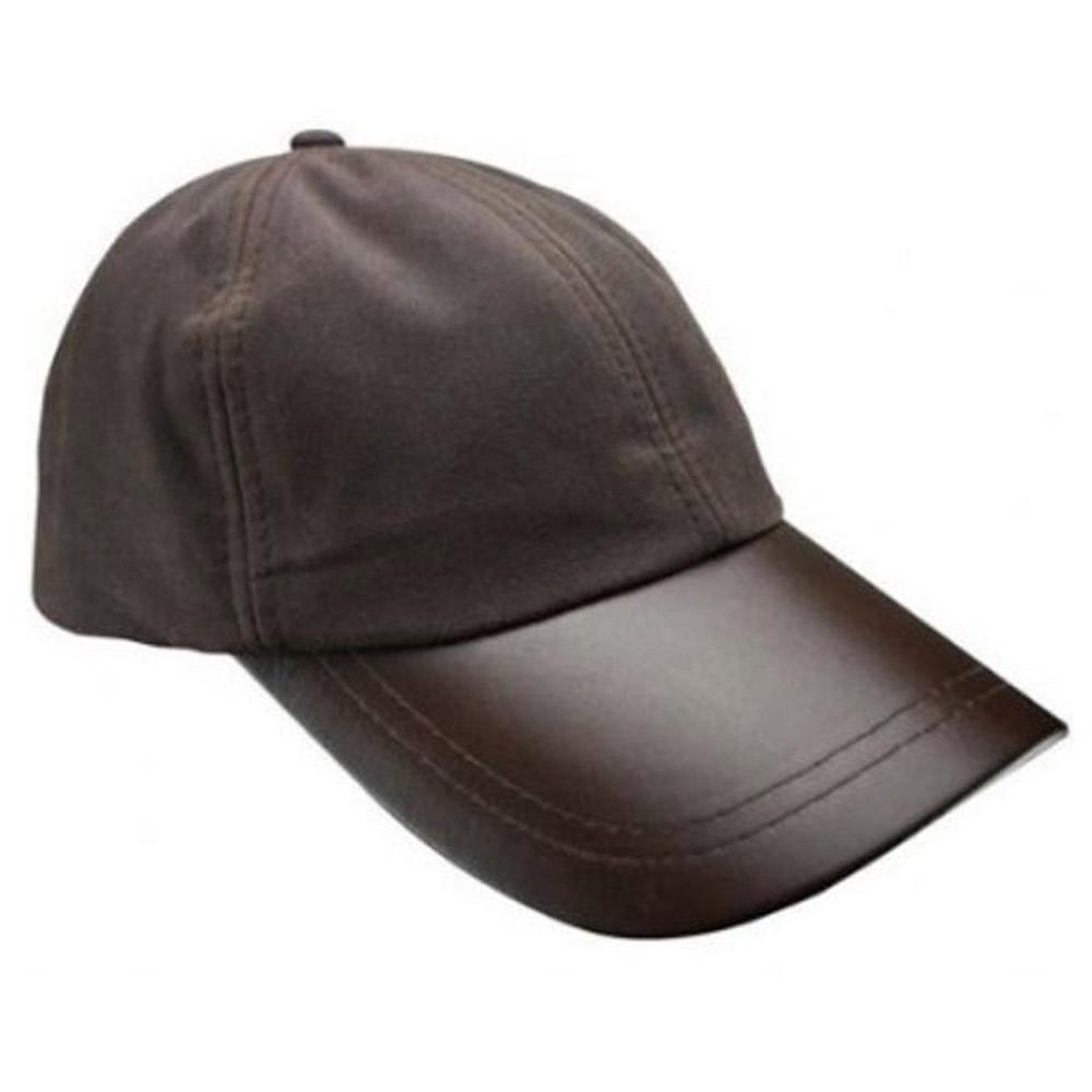 Leather Peak Wax Baseball Cap Bruin