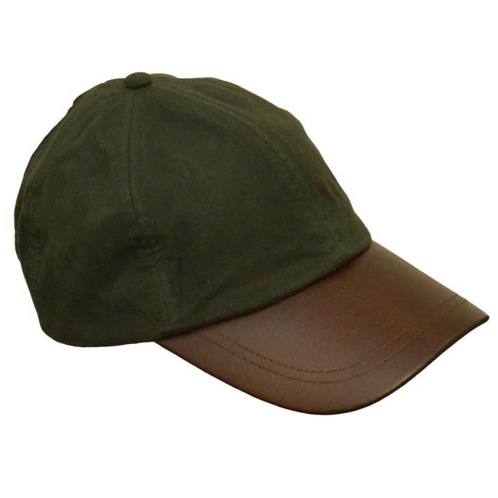Leather Peak Wax Baseball Cap Olive