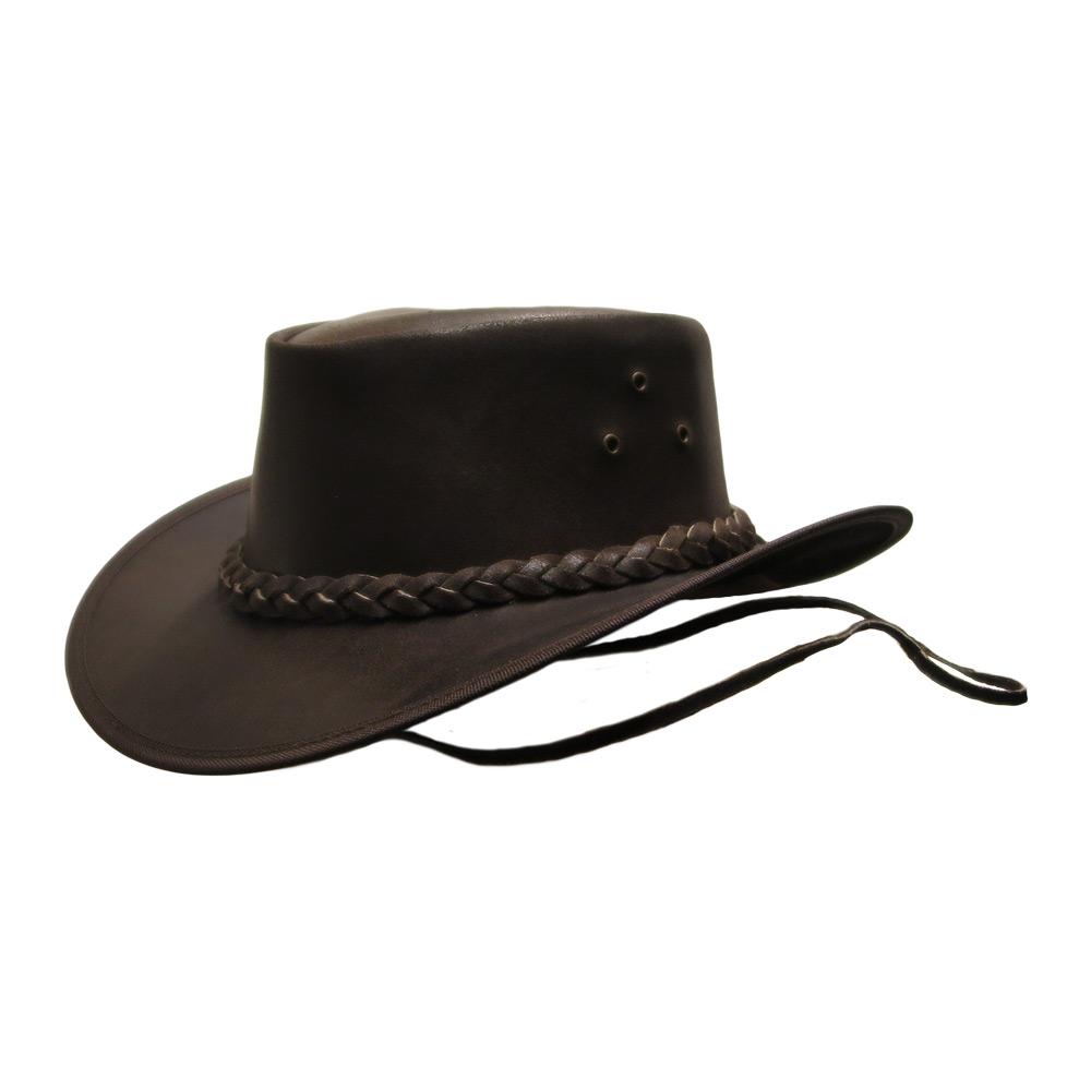Leren hoed Ned Kelly brown