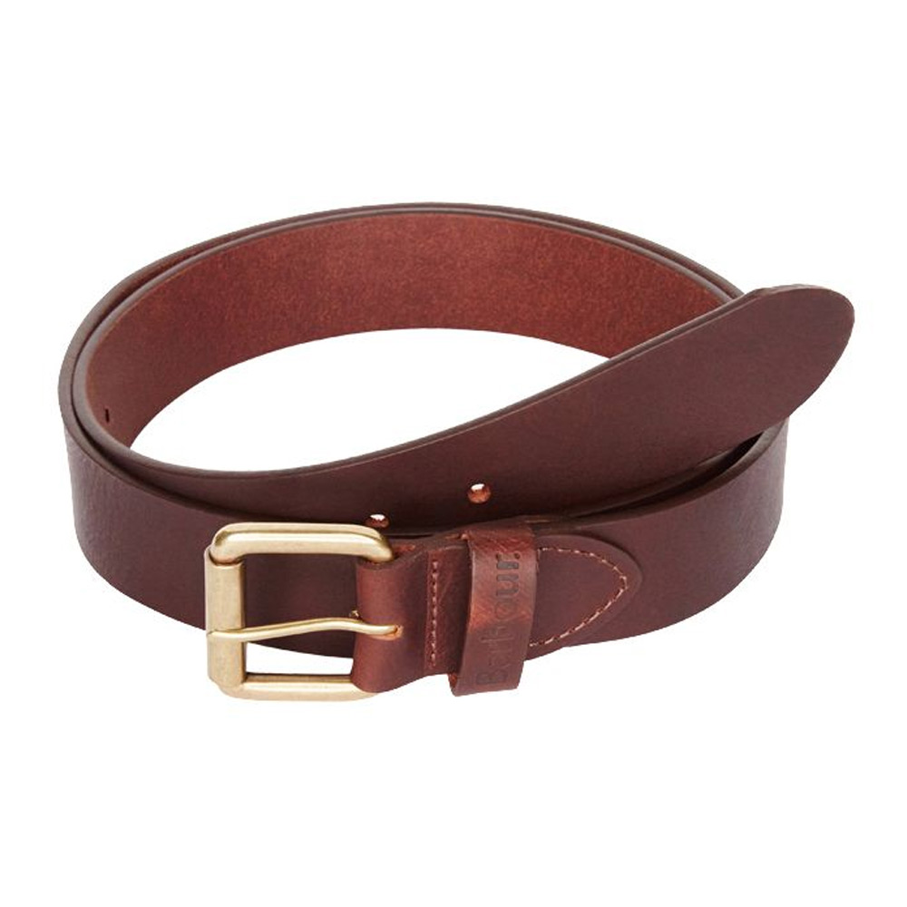 matt leren riem brown