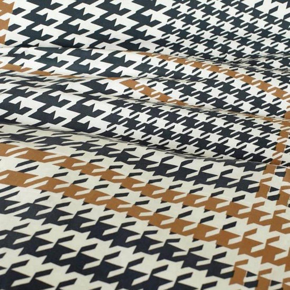 Mendoza brown, dekbedovertrek, eenpersoons