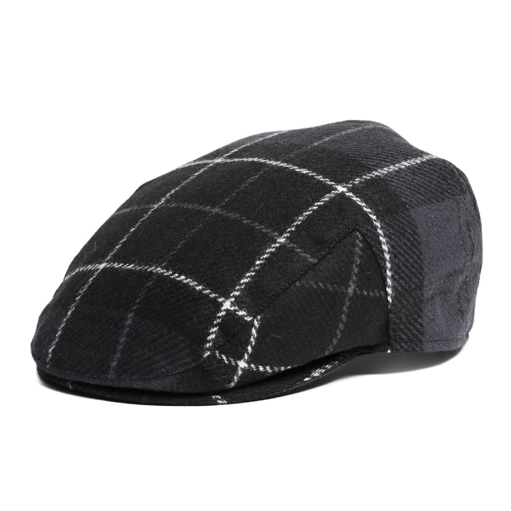 Moons Tweed Cap Black/grey Tartan