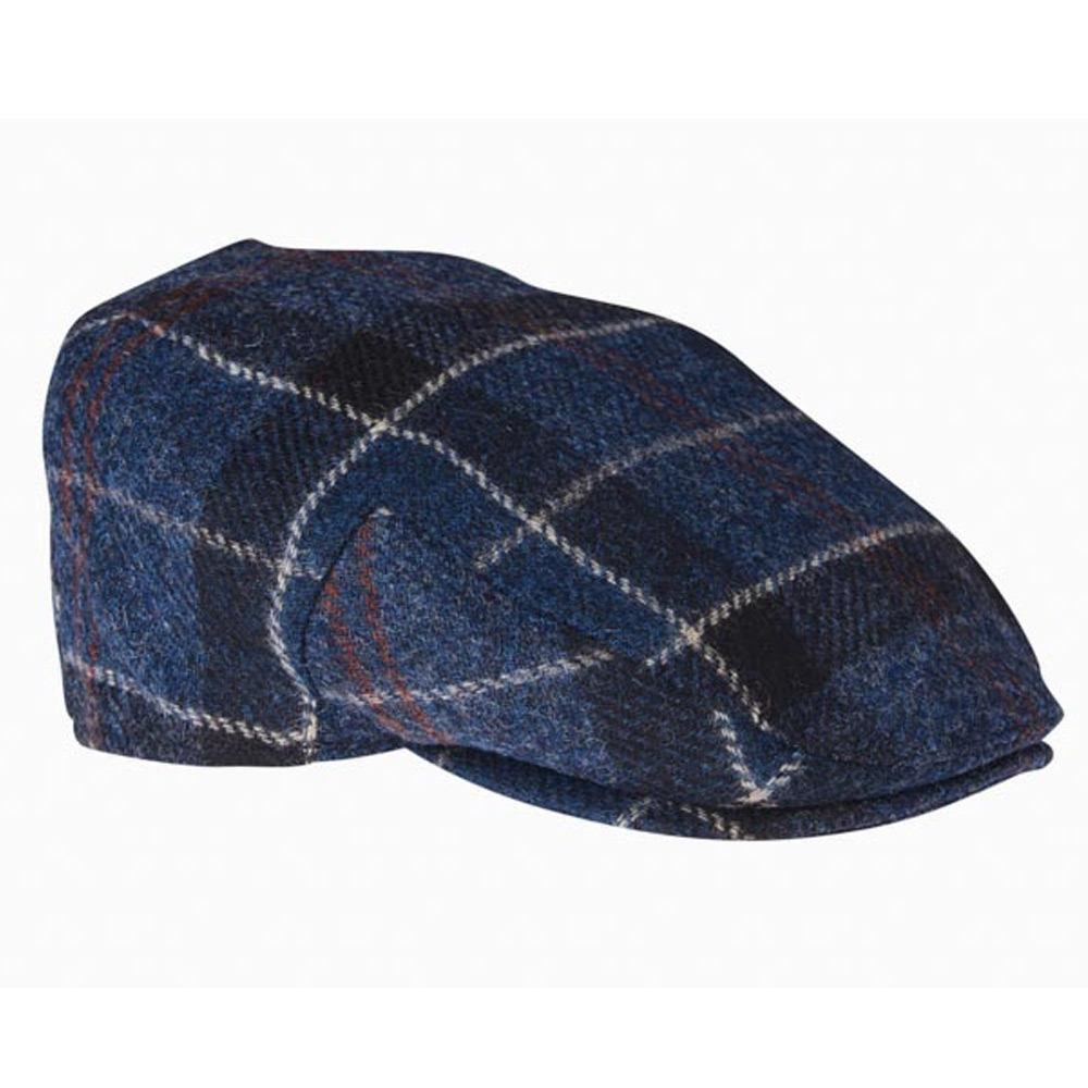 Moons Tweed Cap Navy Tartan