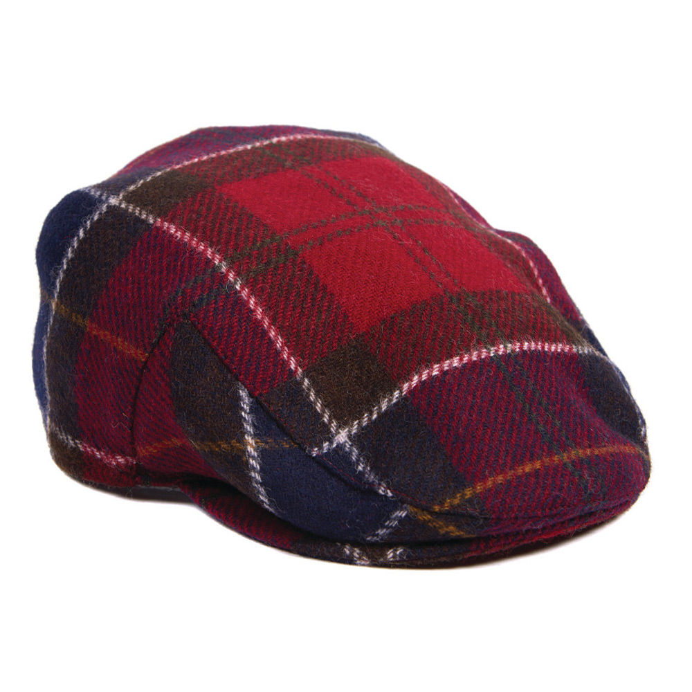 Moons Tweed Cap Rood Tartan