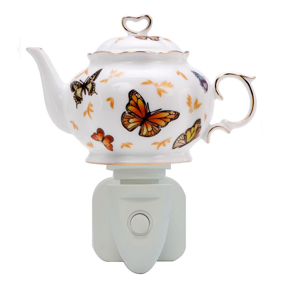 Nachtlamp Teapot Butterfly