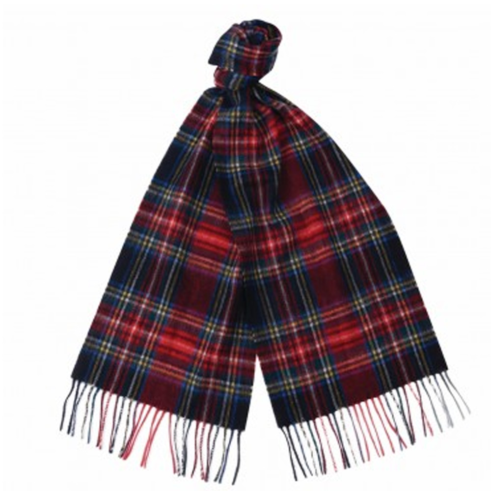 New Check Tartan Scarf Black Steward