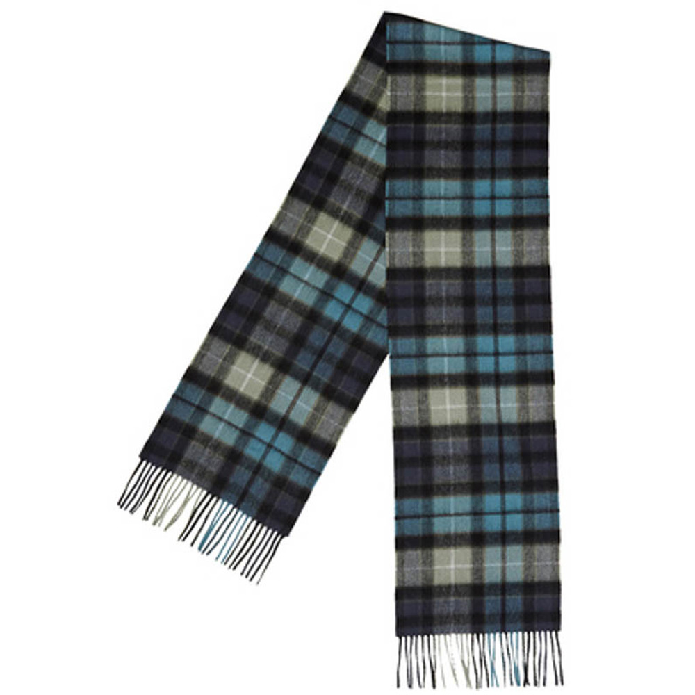 New Check Tartan Scarf black aqua buchanon