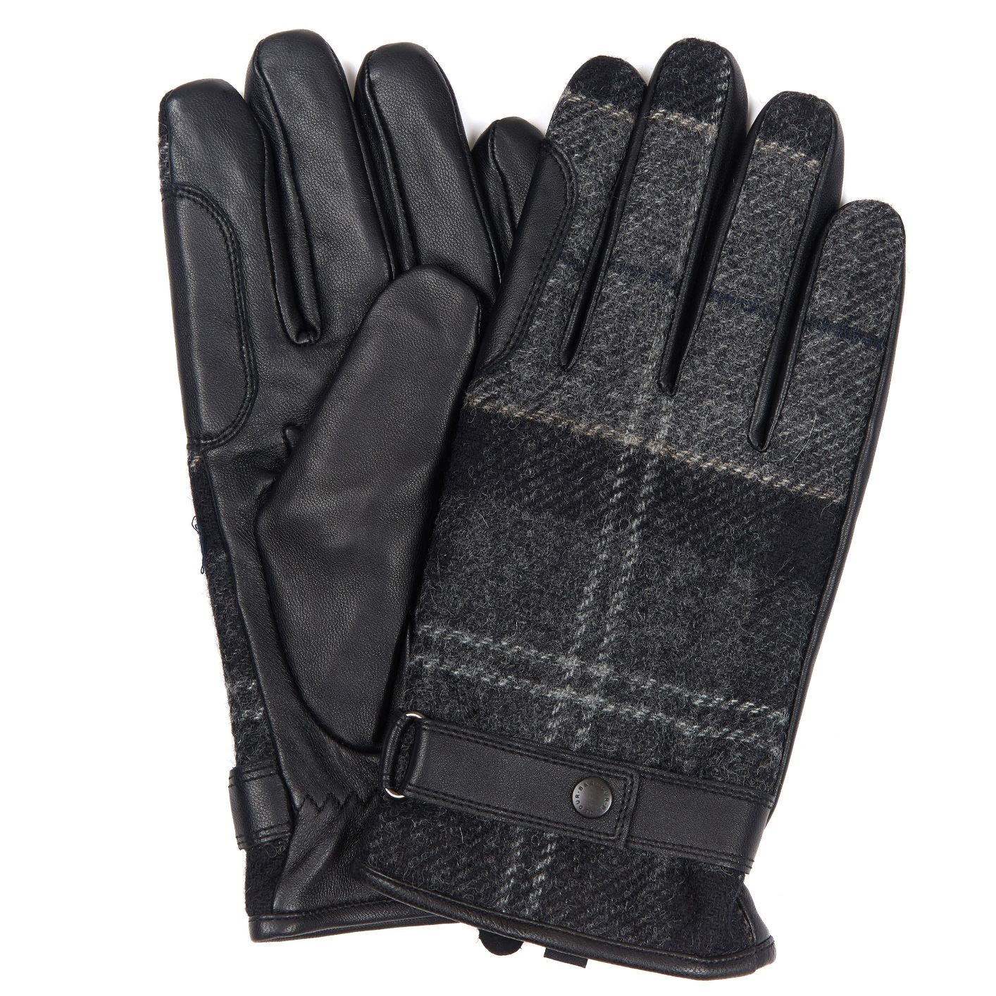 Newbrough black/grey Tartan handschoen heren