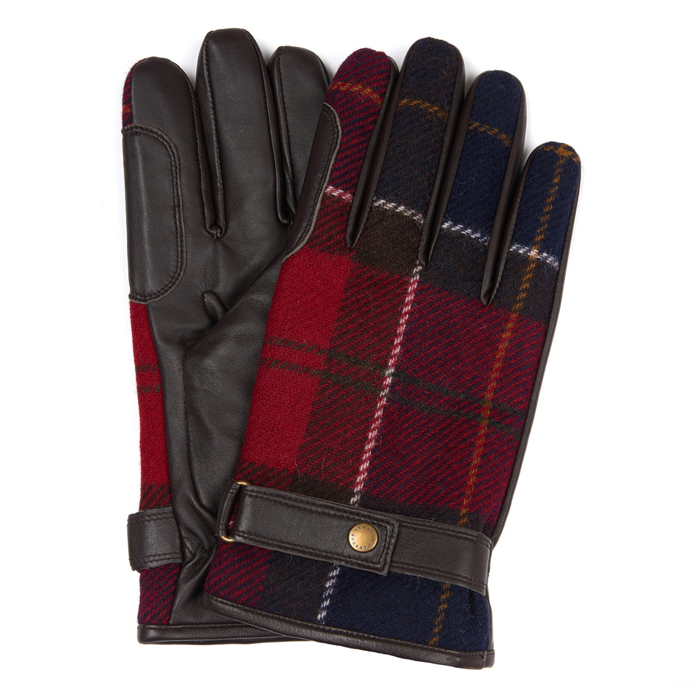 Newbrough Red Tartan handschoen heren