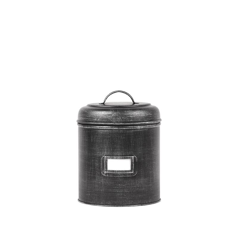 Opbergblik Opbergblik - Zwart - Metaal - S - 10x10x15 cm