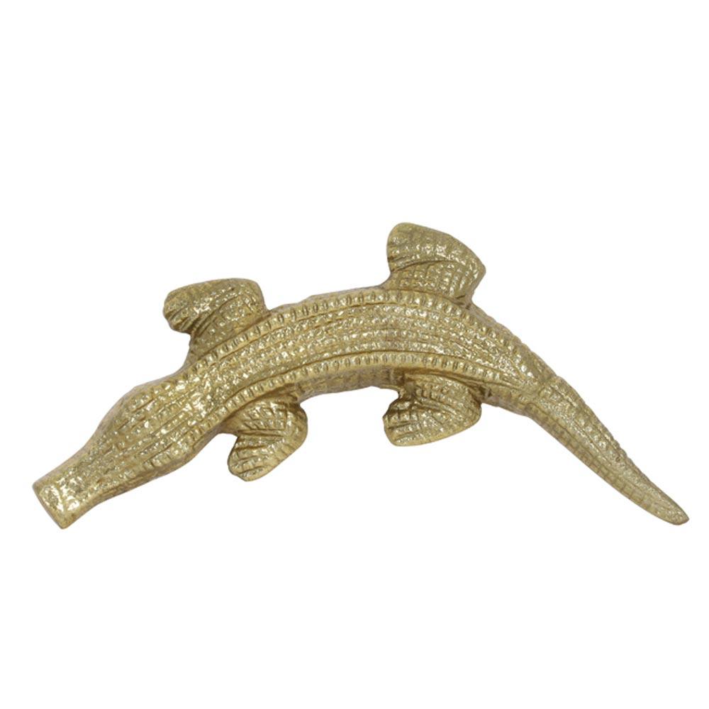 ornament Crocodile antiek brons