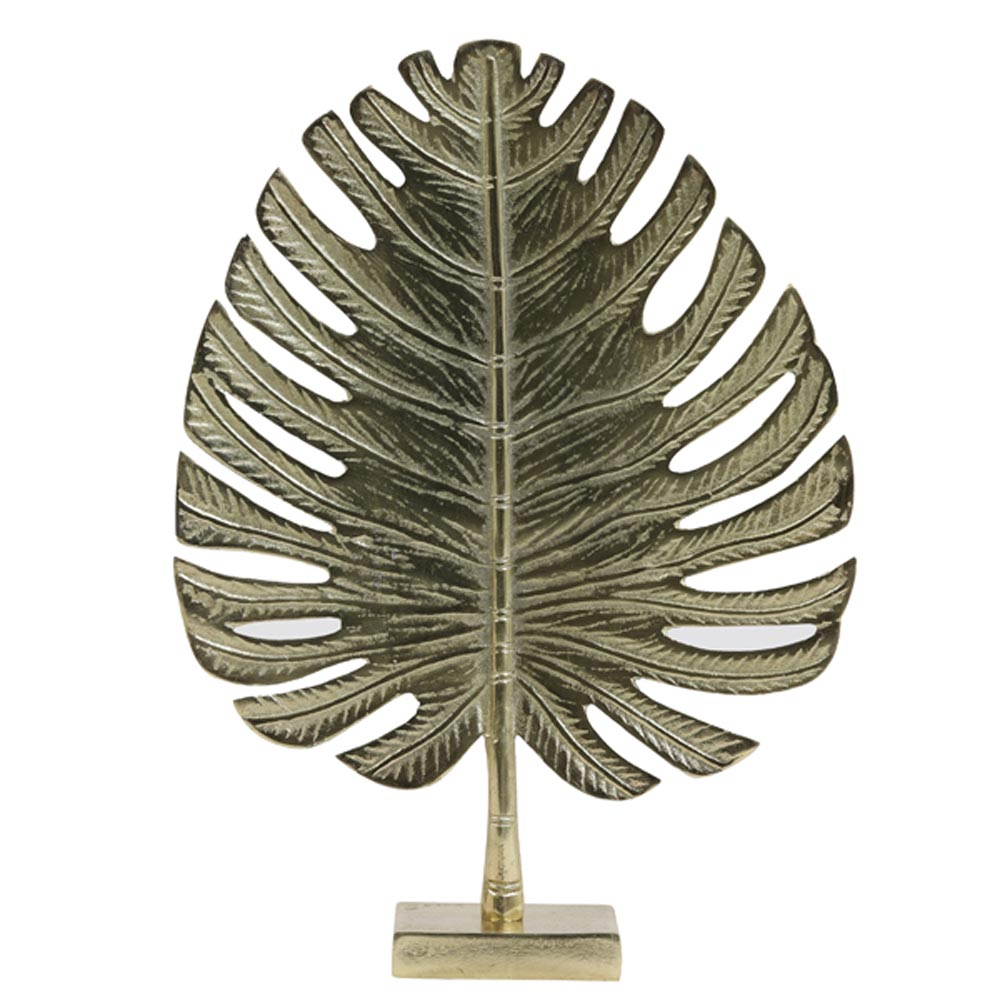 Ornament Leaf goud L