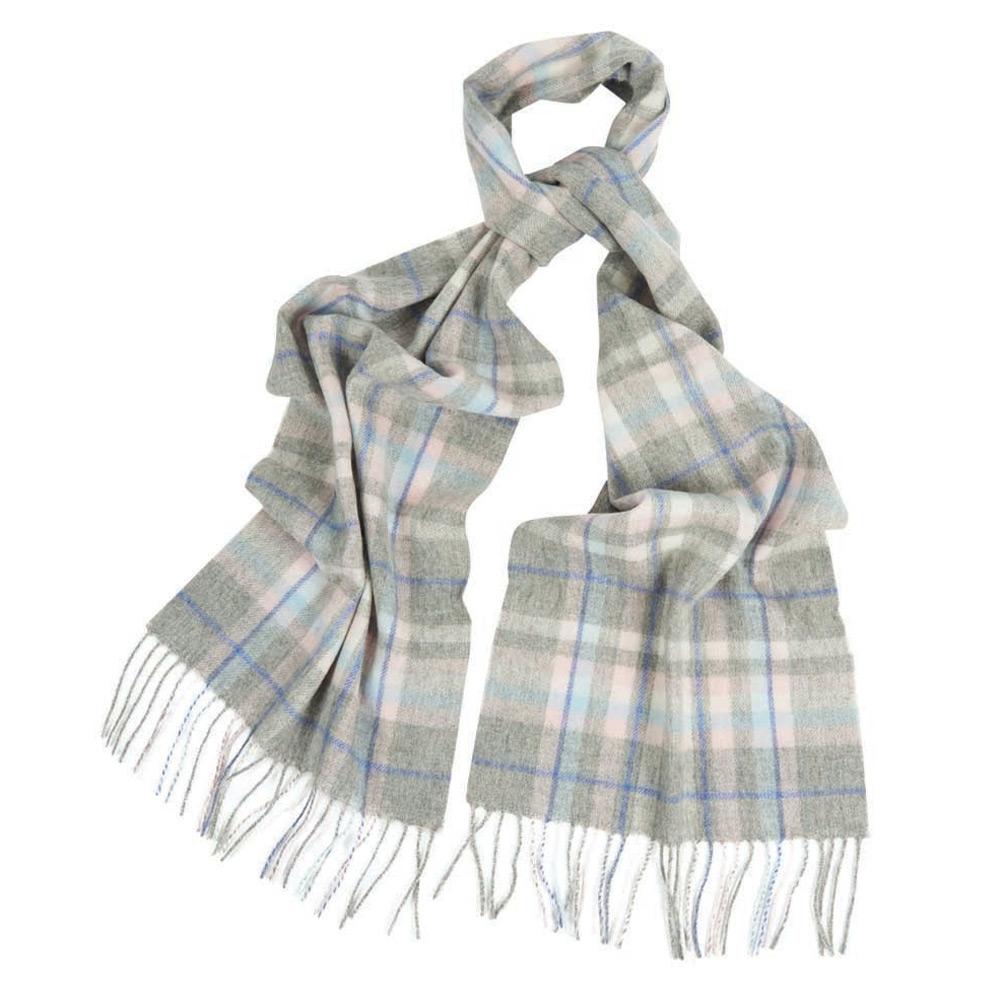 Penshaw check scarf grey/pink