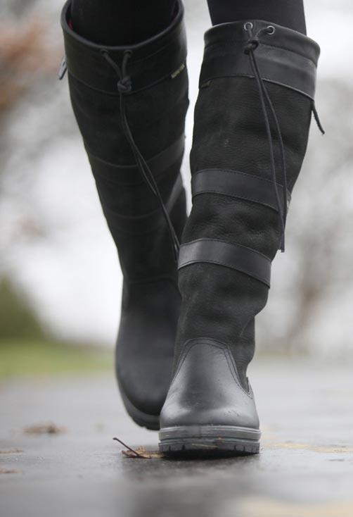 Galway kniehoge laars Black
