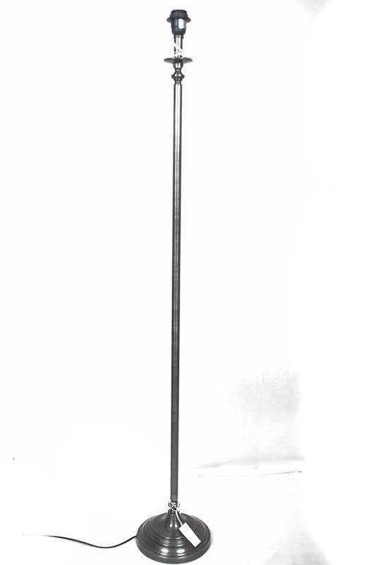 Vloerlamp Ceranova tin antiek