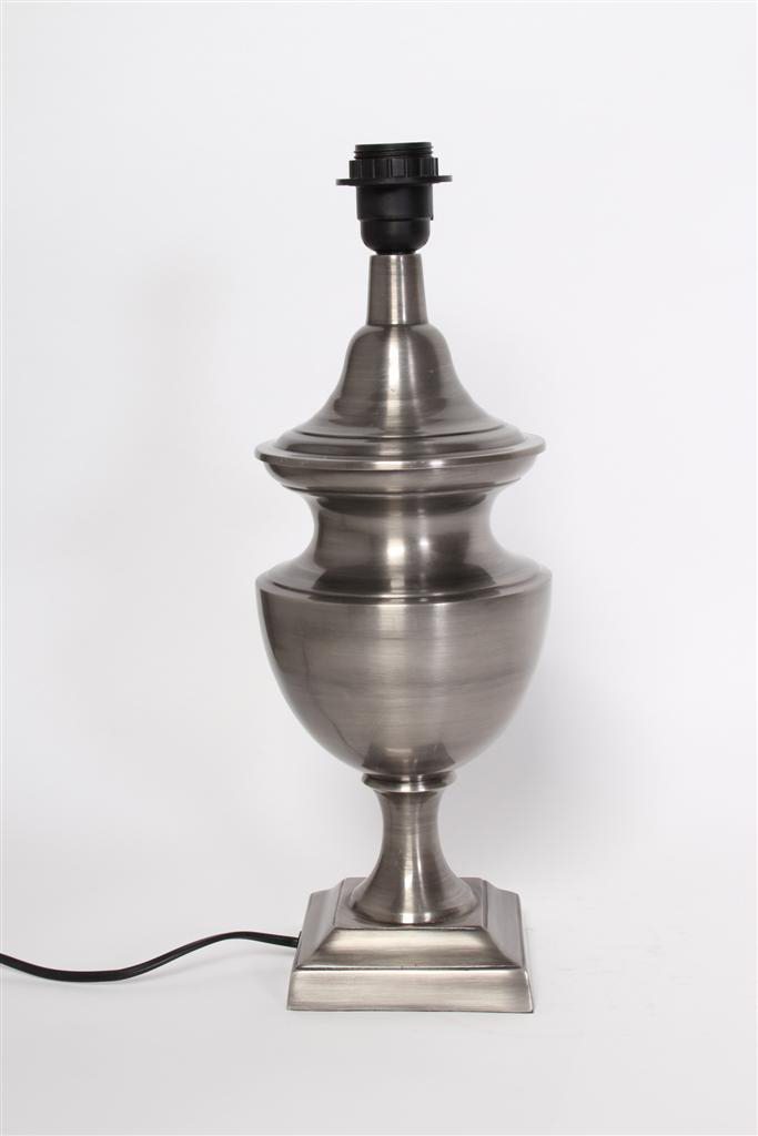 Lampvoet Lombardi tin antiek
