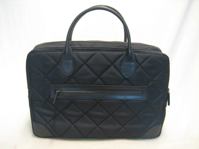 Schoudertas Quilted Laptop Business Black