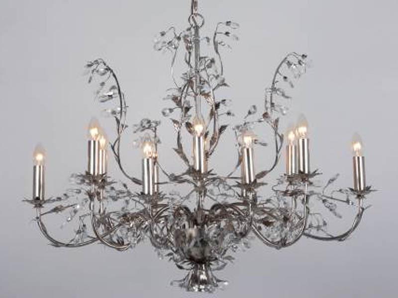 Elegance Ovaal Bladzilver 12 lichts